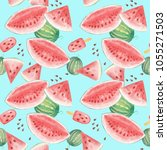 seamless pattern with...   Shutterstock . vector #1055271503
