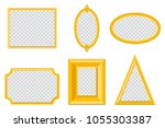 simple gold photo frame of... | Shutterstock .eps vector #1055303387
