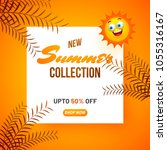 new summer collection  poster... | Shutterstock .eps vector #1055316167
