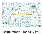 social media icons set. vector... | Shutterstock .eps vector #1055317193