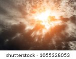 dramatic background with warm... | Shutterstock . vector #1055328053