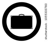 suitcase icon black color in... | Shutterstock .eps vector #1055333783