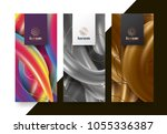 vector set packaging templates... | Shutterstock .eps vector #1055336387