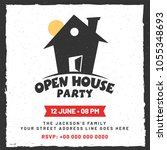 announcement for open house... | Shutterstock .eps vector #1055348693