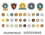 vector bell icon | Shutterstock .eps vector #1055353043
