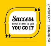 vector quote. success doesn t... | Shutterstock .eps vector #1055353607