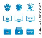 set of icons for cybersecurity | Shutterstock .eps vector #1055353697