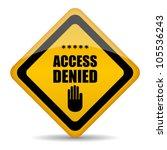access denied vector sign ... | Shutterstock .eps vector #105536243