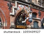 Small photo of Germany, Bavaria, Munich, Marienplatz: Entrance of famous German rathskeller (Ratskeller) as part of the New Town Hall in the city center of the Bavarian capital.