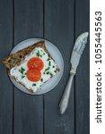 freshly baked spelled bread... | Shutterstock . vector #1055445563