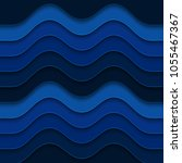 blue wavy background. abstract... | Shutterstock .eps vector #1055467367