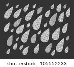 raindrops in grey colors | Shutterstock .eps vector #105552233