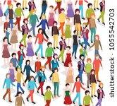 isometric 3d people | Shutterstock .eps vector #1055542703