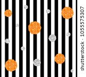 seamless orange and silver... | Shutterstock .eps vector #1055575307