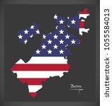 boston massachusetts map with... | Shutterstock .eps vector #1055584013