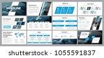 templates of vector white blue... | Shutterstock .eps vector #1055591837