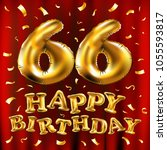 vector happy birthday 66th... | Shutterstock .eps vector #1055593817