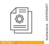 technical documentation line...   Shutterstock .eps vector #1055596457