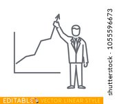 business situation   standing... | Shutterstock .eps vector #1055596673