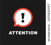attention sign in vector eps 10 ... | Shutterstock .eps vector #1055630597