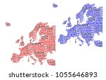 sketch europe letter text... | Shutterstock .eps vector #1055646893