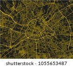 black and yellow vector city... | Shutterstock .eps vector #1055653487