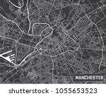 minimalistic manchester city... | Shutterstock .eps vector #1055653523