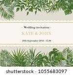 wedding invitation  rsvp modern ... | Shutterstock .eps vector #1055683097