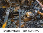 Small photo of Burned out Motorcar interior