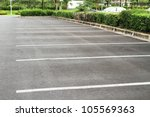 car parking lot with white mark | Shutterstock . vector #105569363