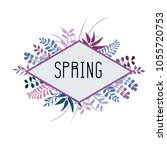 spring background arts | Shutterstock .eps vector #1055720753