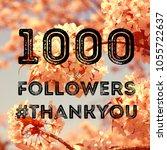 social media celebration banner ... | Shutterstock . vector #1055722637