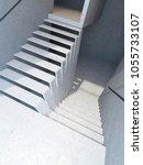 modern stairs in penthouse  3d...   Shutterstock . vector #1055733107
