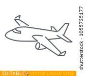 large passenger plane flying....   Shutterstock .eps vector #1055735177
