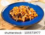 sweet potatoes hash with pork...