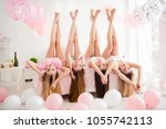charming pretty cheerful... | Shutterstock . vector #1055742113
