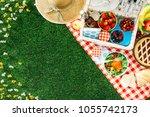 Summertime picnic setting on...