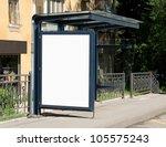 blank billboard on bus stop for ... | Shutterstock . vector #105575243