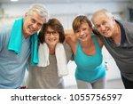 group of senior people in...   Shutterstock . vector #1055756597