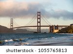 view of the golden gate bridge... | Shutterstock . vector #1055765813