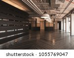 large empty showroom or... | Shutterstock . vector #1055769047