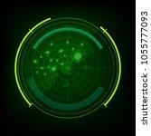 green monitor of radar scanner   Shutterstock .eps vector #1055777093