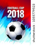 football world cup russia... | Shutterstock .eps vector #1055779523