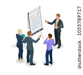 isometric group of business... | Shutterstock .eps vector #1055789717