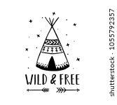 wild and free scandinavian... | Shutterstock .eps vector #1055792357