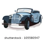 isolated retro car | Shutterstock .eps vector #105580547