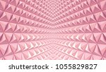 abstract 3d minimalistic... | Shutterstock . vector #1055829827