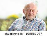 Portrait Of Senior Man Outdoors