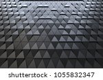 abstract 3d minimalistic... | Shutterstock . vector #1055832347