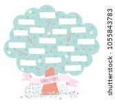 vector family tree template... | Shutterstock .eps vector #1055843783